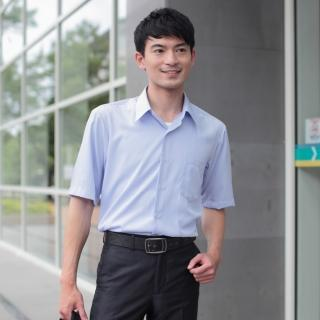 【JIA HUEI】短袖柔挺領 CoolBest II 修身剪裁涼感防皺襯衫 (台灣製造)(藍色)