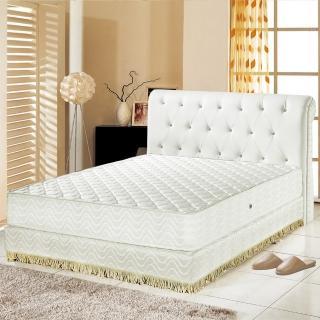 【睡芝寶】乳膠抗菌3M防潑水護邊獨立筒床墊(雙人加大6尺)