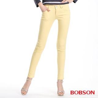 【BOBSON】女款天絲棉超彈緊身褲(黃8073-31)