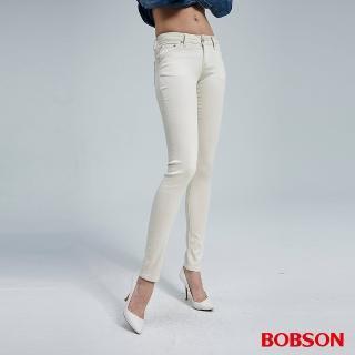 【BOBSON】女款天絲棉超彈緊身褲(米白81)