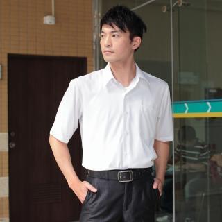 【JIA HUEI】短袖柔挺領 CoolBest II 修身剪裁涼感防皺襯衫 (台灣製造)(白色)