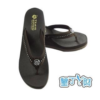 【墾丁ㄚ財】夏艷-典雅系列人字拖(咖啡色)