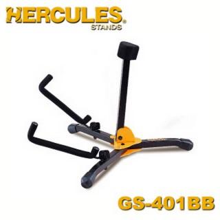 【Hercules海克力斯】迷你木吉他架附袋 公司貨(GS401BB)