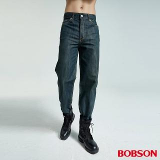 【BOBSON】男款小尻革命大直筒牛仔褲(深藍77)