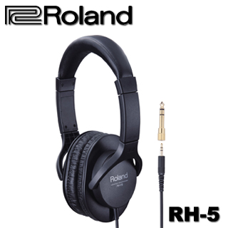 【Roland 樂蘭】立體聲全罩式監聽耳機(RH-5)