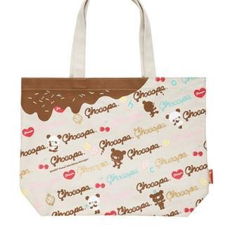 【San-X】巧克貓熊櫻桃甜點系列帆布手提袋