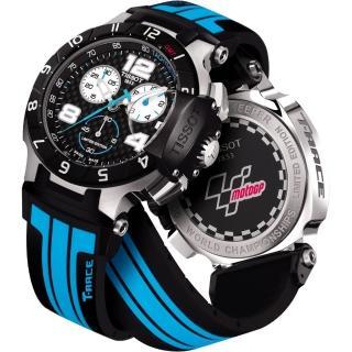 【TISSOT】T-Race MotoGP 專業限量賽車計時腕錶-黑x藍(T0484172720700)