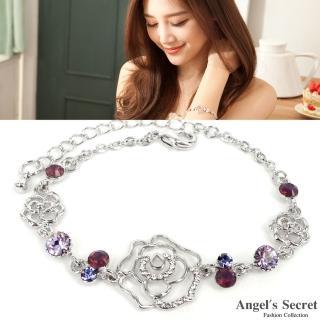 【Angels Secret】薔薇花語˙水晶之戀手鍊(銀白K˙紫羅蘭鑽)