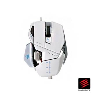 【MAD CATZ】R.A.T. 5 白色電競雙眼雷射滑鼠