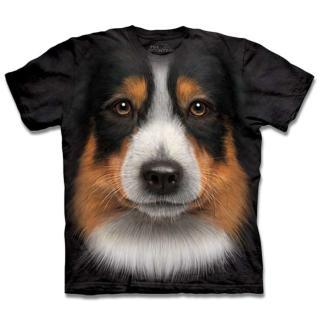【摩達客】美國進口 The Mountain 澳洲邊境牧羊犬臉 T恤