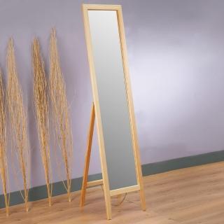 【Homelike】自然原味松木穿衣鏡