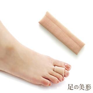 【足的美形】纖維矽膠腳指保護套(2條)