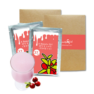 【A Beauty Girl】活力飽足健康營養-膠原蛋白蔓越莓奶昔-素可食(24包)