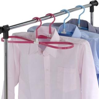【多麼潔】8字型曬衣快乾多用途衣架6入