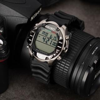 【SEIKO】Prospex 專業潛水多功能鈦金屬電腦腕錶-黑/58mm(DH33-4A00D)