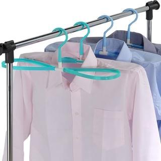 【多麼潔】8字型曬衣快乾多用途衣架12入