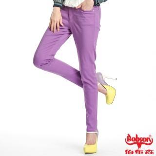 【BOBSON】女款天絲棉強彈緊身褲(紫8086-61)