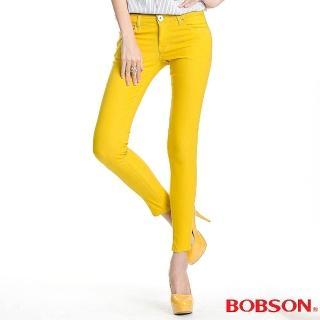【BOBSON】女款彩色強彈力緊身褲(黃8087-31)