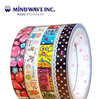 【MIND WAVE】日本可愛膠帶(手繪小熊/水果精靈/蕾絲點點/鑽石)