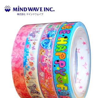 【MIND WAVE】日本可愛膠帶(Happy/World/芭蕾舞鞋/珠寶熊)