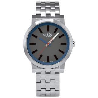 【LICORNE】entree 精選時光休閒腕錶-灰藍(LT026MWUI-N)