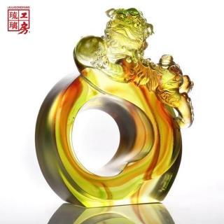 【琉璃工房 LIULI】氣昇人和系列-躍獅迎祥(擺飾)