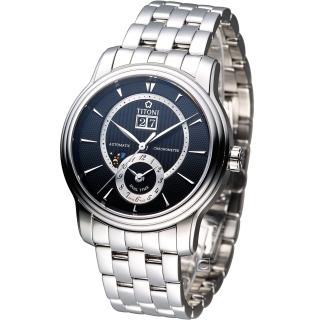 【TITONI 梅花錶】Master Series 天文台認證機械腕錶(94981S-390)