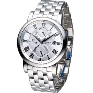 【TITONI 梅花錶】Master Series 天文台認證機械腕錶(94982S-387)