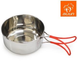 【步林BULIN】折疊把手不銹鋼隨身碗 / 野炊露營 鋼碗