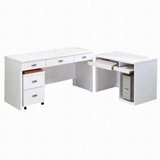 【時尚屋】亞泰白色電腦桌(345-1)
