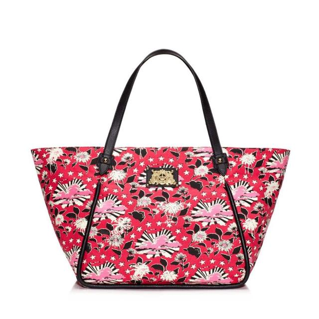 【Juicy Couture】Printed Canvas Tote 帆布拖特包(紅色)