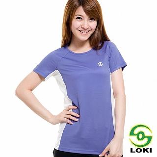 【LOKI】女 VANA 圓領抗UV短袖排汗衣(長春花紫)