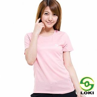 【LOKI】女 VANA 圓領抗UV短袖排汗衣(粉紅糖衣)