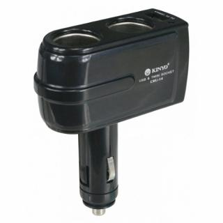 車用點煙器+USB充電擴充座(CRU-14)