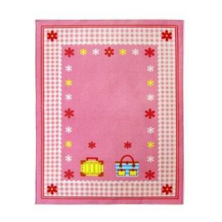 【范登伯格】妮荷寶貝玩樂遊戲毯-粉色小花(100x130cm)