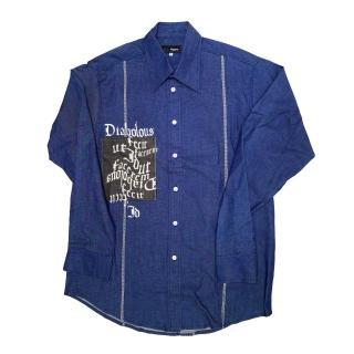 【摩達客】英國進口 Higgins 藍色設計休閒襯衫