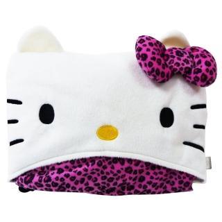【享夢城堡】Hello Kitty 豹紋系列-車用披肩毯
