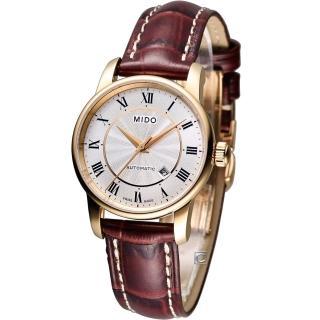 【MIDO 美度】Baroncelli II 羅馬假期機械腕錶(M76002218)