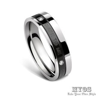 【MYOS】幸福起點_抗過敏316L西德鋼戒指(經典黑)
