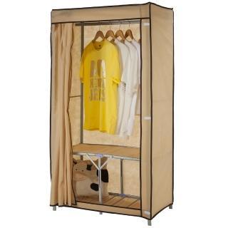 【免工具】專利品80公分寬-攜帶型折疊式-鐵管吊衣櫥/吊衣架(附全蓋式防塵布套-4色可選)