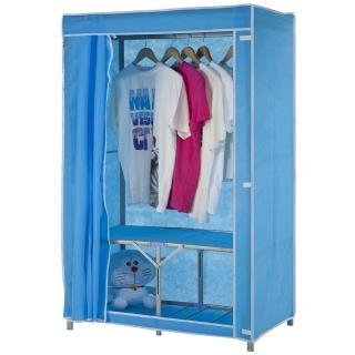 【免工具】專利品95公分寬-攜帶型折疊式-鐵管吊衣櫥/吊衣架(附全蓋式防塵布套-4色可選)