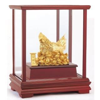 【開運陶源】純金 立體金箔櫥窗禮品(金雞母/聚財雞 居家富貴/金雞聚寶)