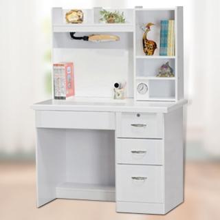 【時尚屋】吉星白色3.5尺書桌(352-4)