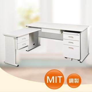 【時尚屋】DIY5尺THA淺灰色L型辦公桌櫃組(249-1)