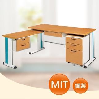 【時尚屋】DIY5尺SKD木紋L型辦公桌櫃組(260-10)