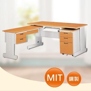 【時尚屋】DIY5尺SHU木紋L型辦公桌櫃組(263-2)