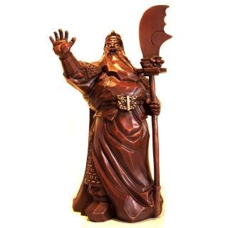 【雕塑藝術大師 羅廣維】開運陶源 一夫當關武財神(關公 銅雕)