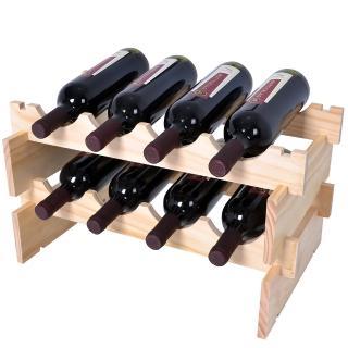 【哇沙米居家】可堆疊紅酒架(二組入)
