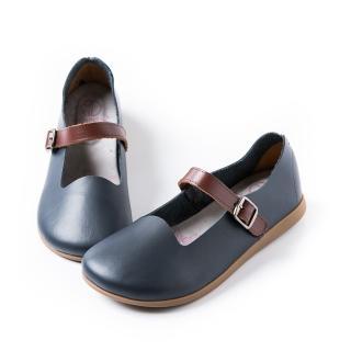 【ALAIN DELON】休閒舒適-MIT真皮休閒鞋W7380(3色   棕色 藍色 米色)