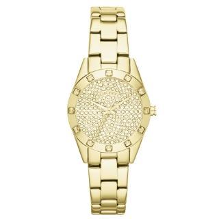 【DKNY】璀璨靈魂晶鑽時尚腕錶(鋼帶-金 NY8888)